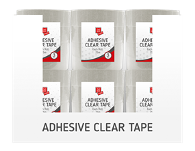 Clear Adhesive Tape 3pk 25m PDQ