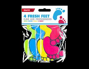 Fresh Feet Car Air Fresheners - 4 Pack
