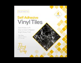 Dark Marble Self Adhesive Vinyl Tiles - 4 Pack