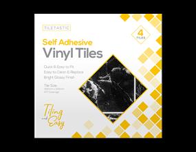 Marble Self Adhesive Tiles - 4 Pack