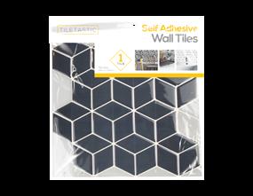 Wholesale Blue Hexagon Wall Tile Sticker   Gem Imports Ltd