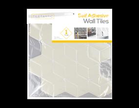 Wholesale White Hexagon Wall Tile Sticker   Gem Imports Ltd