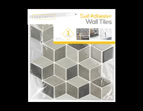 Wholesale Grey Hexagon Wall Tile Sticker | Gem Imports Ltd