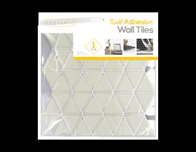 Wholesale White Triangle Wall Tile Sticker   Gem Imports Ltd