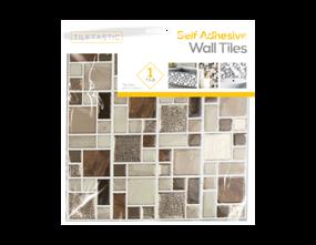 Wholesale Brown Glitter Mosaic Wall Tile Stickers   Gem Imports Ltd