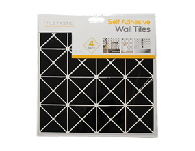 Wholesale Black Diamond Mosaic Wall Tile Stickers | Gem Imports Ltd