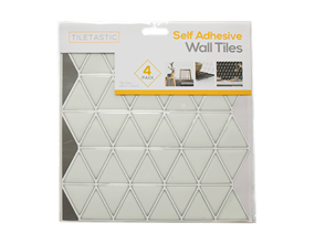 Wholesale White Triangle Mosaic Wall Tile Stickers   Gem Imports Ltd