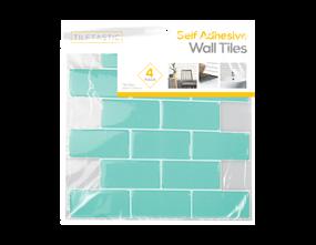 Wholesale Teal Brick Wall Tile Stickers | Gem Imports Ltd