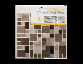 Wholesale Brown Glitter Mosaic Wall Tile Stickers | Gem Imports Ltd