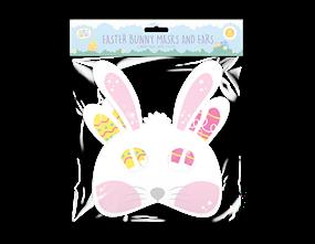 Wholesale Easter Bunny Paper Mask & Ears | Gem Imports Ltd