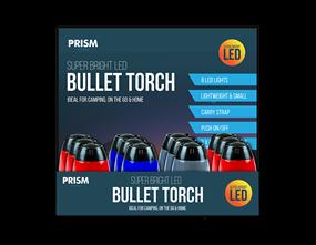Wholesale LED Bullet Torches | Gem Imports Ltd