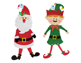 Wholesale Felt Santa & Snowman Hanging  Christmas Decorations | Gem Imports Ltd