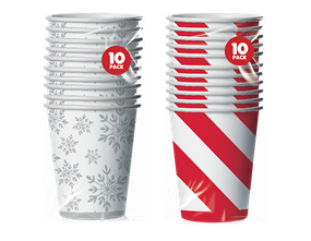 Wholesale Christmas Foiled Paper Cups | Gem Imports Ltd