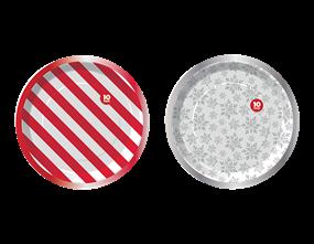 Wholesale Christmas Foiled Paper Plates | Gem Imports Ltd