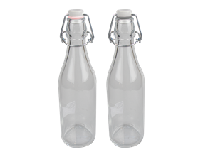 Fridge Storage Glass Bottle 1000ml - Trend