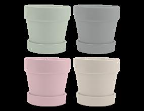 Wholesale Bright Ceramic Plant Pot & Saucer | Gem Imports Ltd