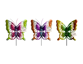 Wholesale Glass Bead Butterfly Garden Stakes | Gem Imports Ltd