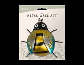Metallic Bee Metal Wall Decoration