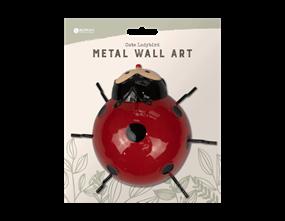 Cute Ladybird Metal Wall Decoration