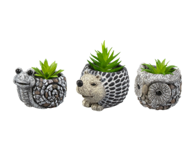 Artificial Plant in Animal Planter