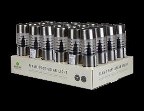 Wholesale Solar Stainless Steel Flame Post Light PDQ | Gem Imports Ltd