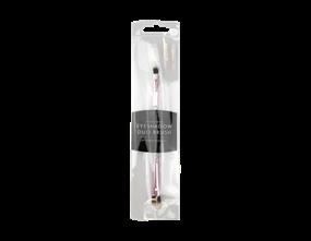 Wholesale Purple Glitter Eyeshadow Duo Brushes | Gem Imports Ltd