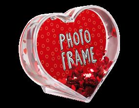 Glitter Heart Photo Frame