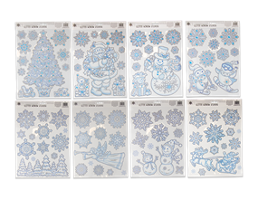 Wholesale Glitter Snowflake Scene Window Stickers | Gem Imports Ltd