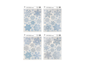 Wholesale Glitter Snowflake Window Stickers | Gem Imports Ltd