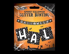 Wholesale Halloween Glitter Buntings | Gem Imports Ltd