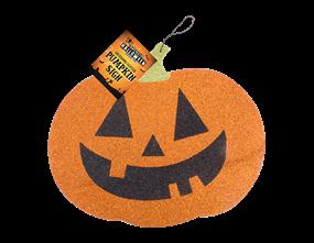 Halloween Pumpkin Glitter Sign
