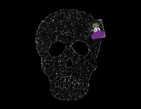Wholesale Glittering Skull Plaque | Gem Imports Ltd