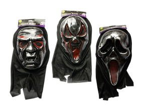 Wholesale Halloween Metallic Hooded Mask | Gem Imports Ltd