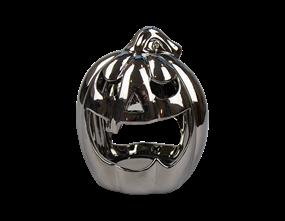 Mirrored Pumpkin Face Tea Light Holder
