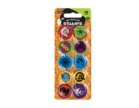 Wholesale Halloween Mini Character Stamps 10 Pack | Gem Imports Ltd