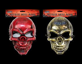 Wholesale Halloween Metallic Skull Mask | Gem Imports Ltd