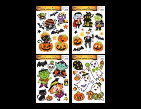 Halloween Glitter Window Stickers