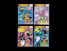 Halloween Colourful Glitter Window Stickers