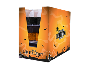Wholesale Halloween Glitter LED Tealights   Gem Imports Ltd