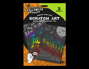 Halloween Scratch Art 2PK