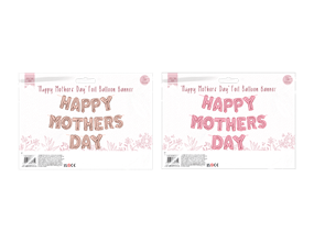 Happy Mother's Day Foil Balloon Banner