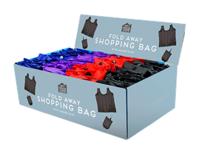 Wholesale Fold Away Shopping Bags | Gem Imports Ltd