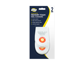 Ladies Memory Foam Heel Cushions - 2 Pack