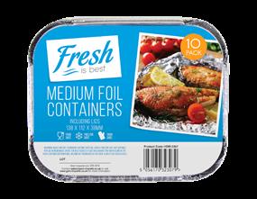 Medium Foil Containers & Lids - 10 Pack