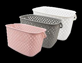 Wholesale Plastic Rattan Effect Hanging Storage Baskets | Gem Imports Ltd