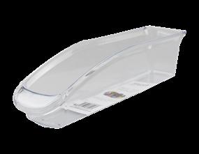 Clear Plastic Narrow Fridge Organiser