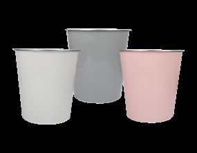 Wholesale Plain Plastic Waste Bin | Gem Imports Ltd