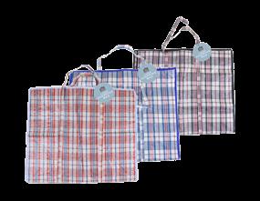 Large Check Shopping Bag