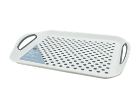 Wholesale White Extra Large Anti Slip Serving Trays | Gem Imports Ltd