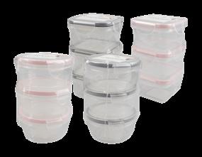 Mini Clip Lock Containers 150-200ml 3pk Trend